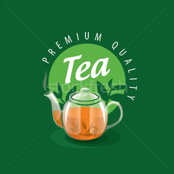 вектора логотип чай иллюстрация шаблон Сток-фото © butenkow