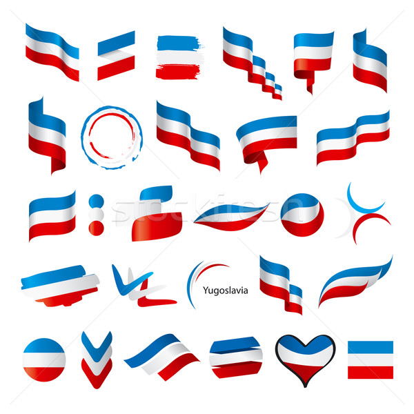 biggest collection of vector flags of Yugoslavia Stock photo © butenkow