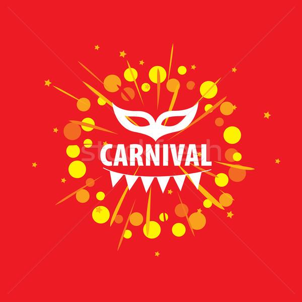 Carnaval vetor logotipo abstrato modelo festival Foto stock © butenkow