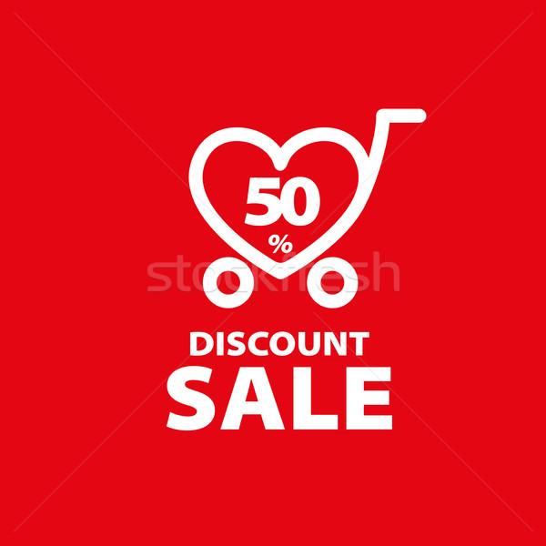 vector sign for discounts Stock photo © butenkow