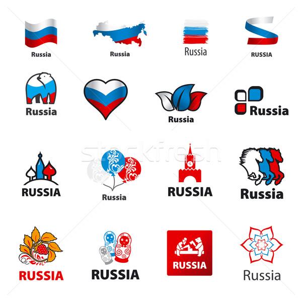 Foto stock: Colección · vector · logos · Rusia · amor · signo