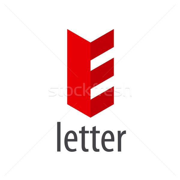 Red abstract vector logo letter E Stock photo © butenkow