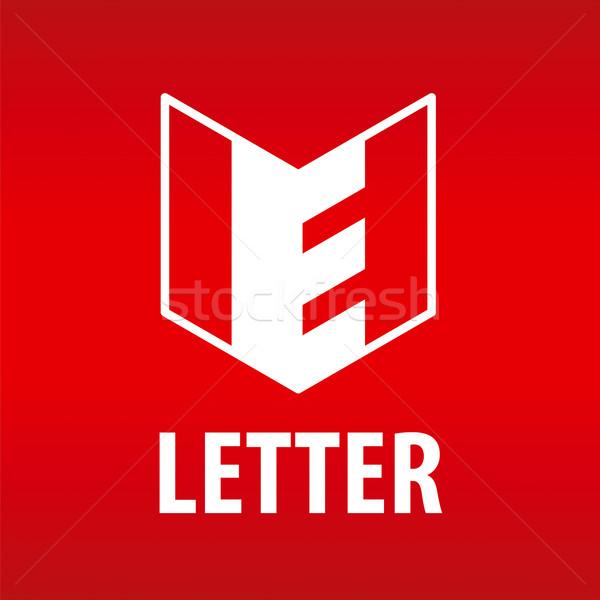 vector logo the letter E in the open book Stock photo © butenkow