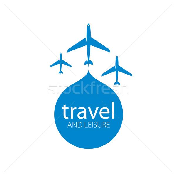 Viaggio vettore logo modello piano volo Foto d'archivio © butenkow