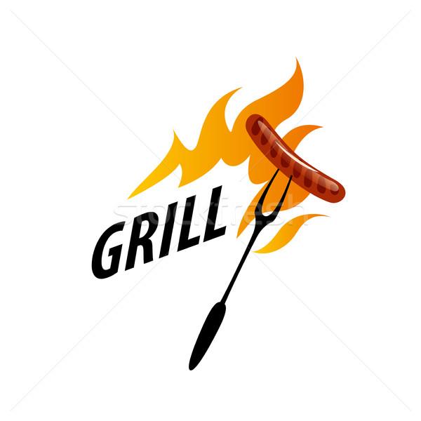 Barbecue party logo Stock photo © butenkow