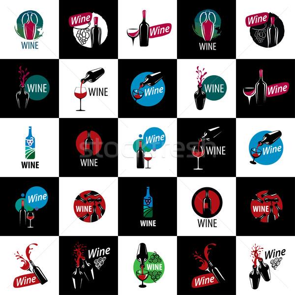 vector logo wine Stock photo © butenkow