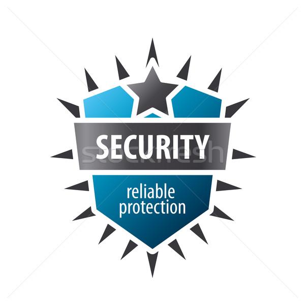 Vektör logo imzalamak koruma iş soyut Stok fotoğraf © butenkow