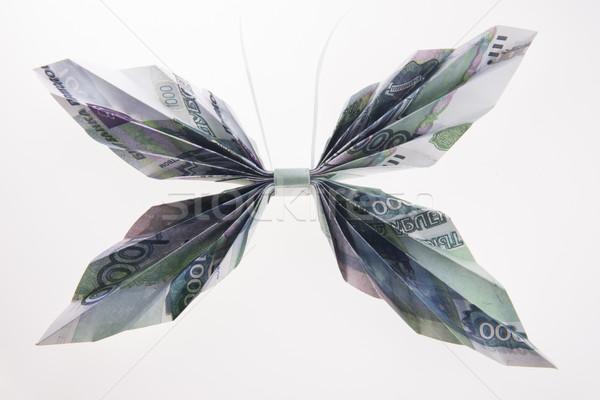 Vorm vlinders origami vlinder uit gebouw Stockfoto © butenkow