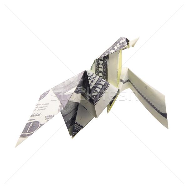 Origami ptaków biały ceny charakter Zdjęcia stock © butenkow