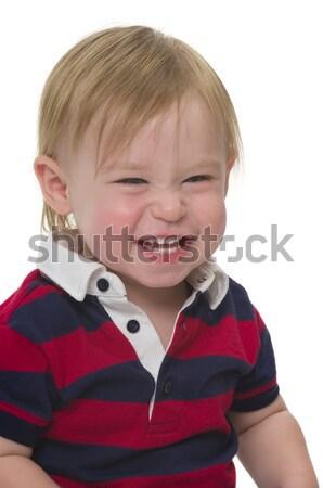 Gyermek kétéves aranyos kisgyerek arc gyerek Stock fotó © BVDC