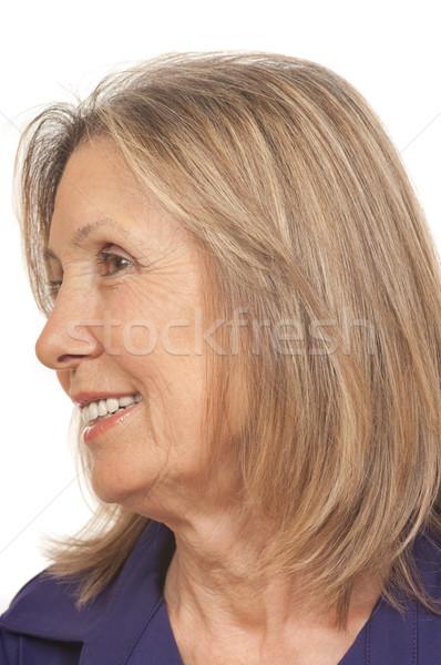 Senior jaar oude glimlach gezicht Stockfoto © BVDC