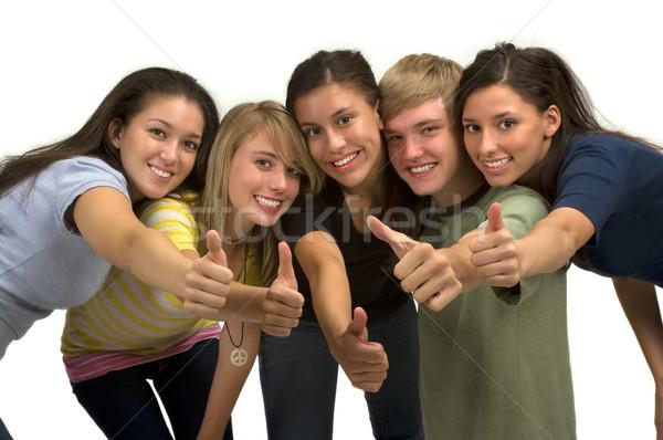 Amitié groupe heureux élèves famille Photo stock © BVDC