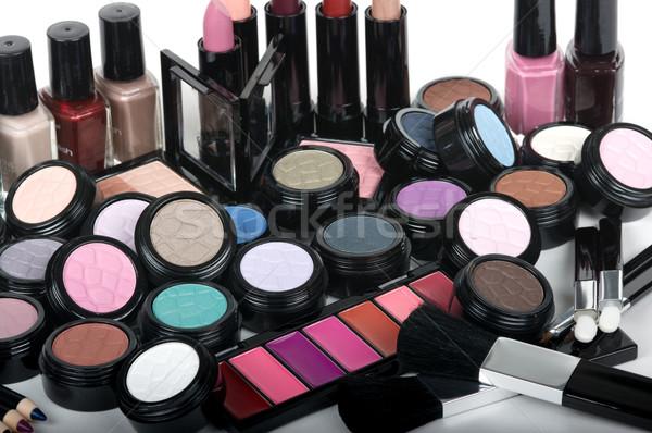Kozmetika profi smink szett ceruza ecset Stock fotó © BVDC