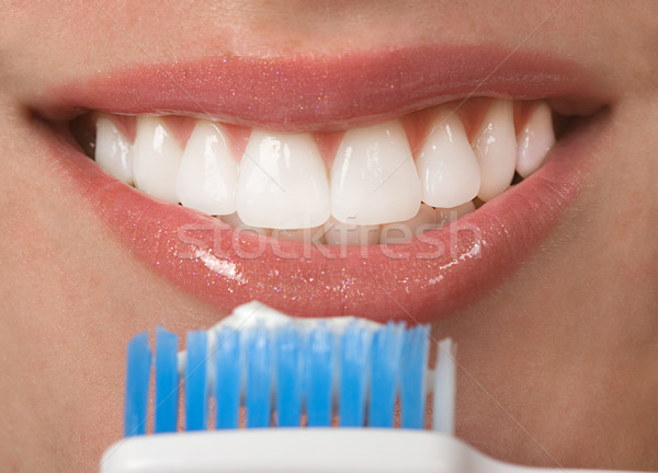 Dents saine bouche heureux Teen dentiste Photo stock © BVDC