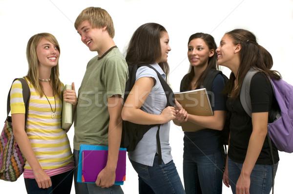 Scuola gruppo studenti ragazza felice Foto d'archivio © BVDC