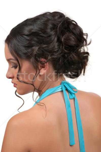 Włosy fryzura wesela strony ślub moda Zdjęcia stock © BVDC