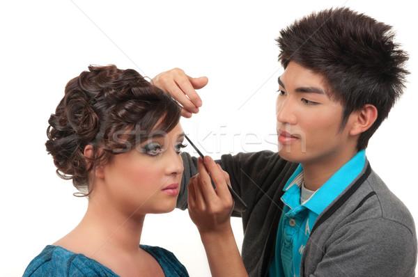 волос составляют косметики художник Сток-фото © BVDC