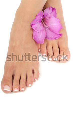 Pedicure estância termal massagem pé orquídea manicure Foto stock © BVDC