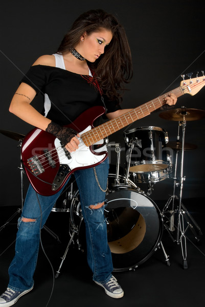 Playing Guitar Stock photo © BVDC