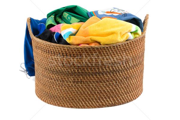 çamaşırhane çamaşır sepeti çalışmak temizlemek sepet giyim Stok fotoğraf © BVDC