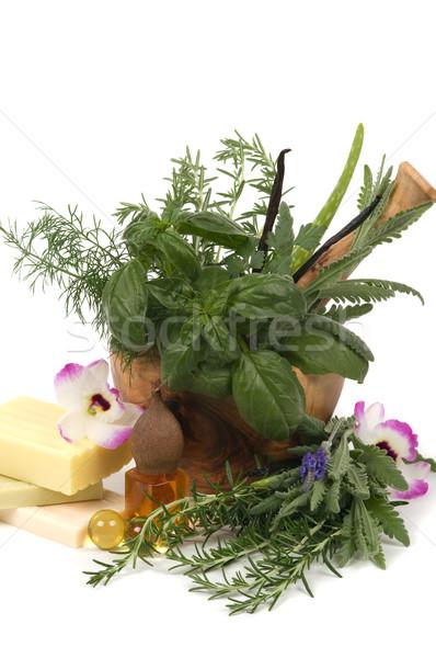 Thérapie détente herbes pétrolières alimentaire Photo stock © BVDC
