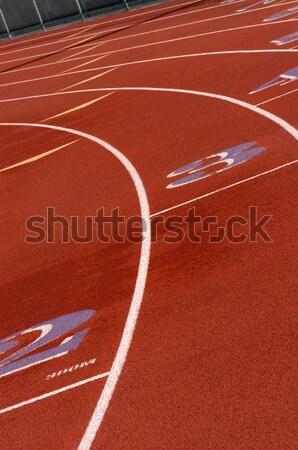 Stok fotoğraf: Yarış · pisti · uygunluk · yarış · stadyum · koşucu · hızlı