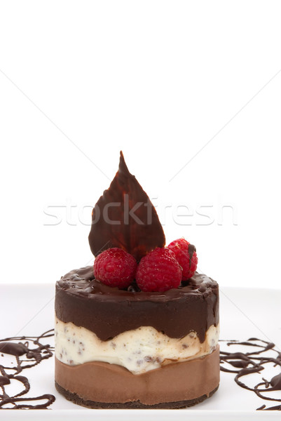 Sernik czekolady kopia przestrzeń ciasto ser uroczystości Zdjęcia stock © BVDC