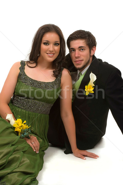 Prom adolescentes flor feliz bola menino Foto stock © BVDC
