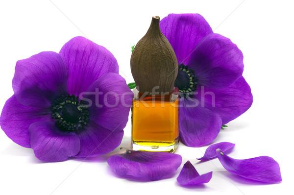 Masszázsolaj fürdő aromás virágok virág olaj Stock fotó © BVDC