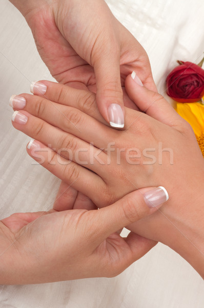 Manicure and Massage Stock photo © BVDC