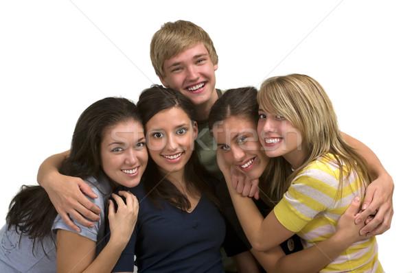 Przyjaźni różnorodny grupy szczęśliwy znajomych rodziny Zdjęcia stock © BVDC