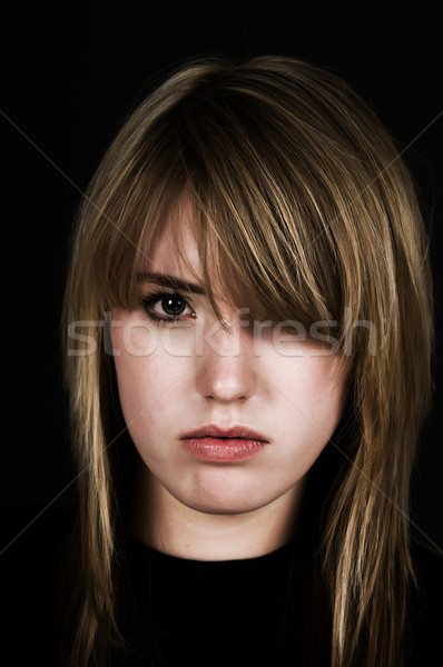 Zdenerwowany dziewczyna wybielacz teen nastolatek Zdjęcia stock © BVDC