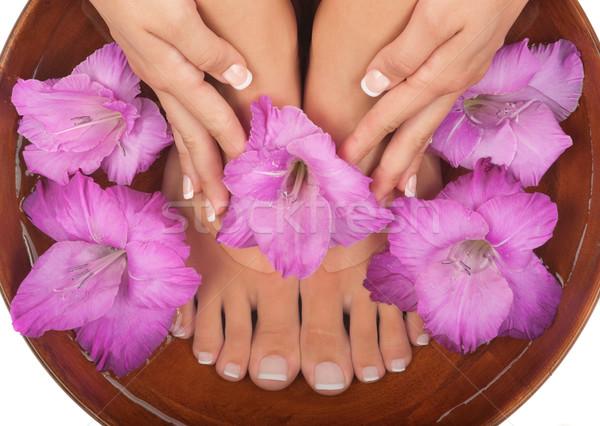 Pédicure manucure spa eau massage peau Photo stock © BVDC