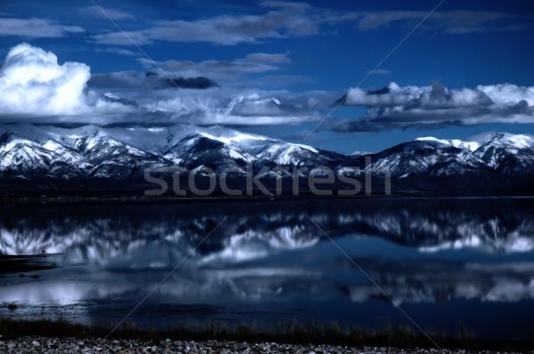 Tó nagyszerű só Utah tenger hó Stock fotó © BVDC