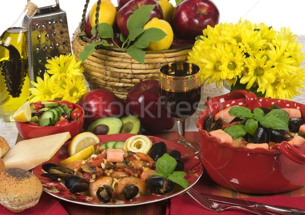 Seafood Dinner Stock photo © BVDC