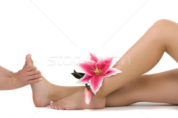 Masszázs terápia nő tavasz egészség gyűrű Stock fotó © BVDC