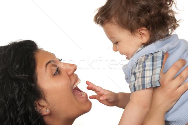 Mãe filho mães amor menino humor Foto stock © BVDC