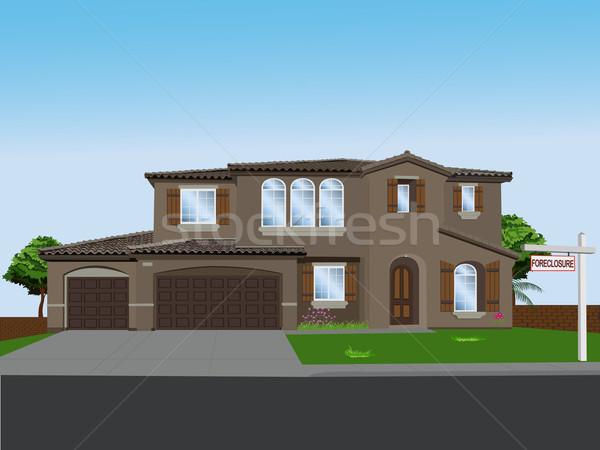 Vektor otthon álom álmok ház fa Stock fotó © BVDC