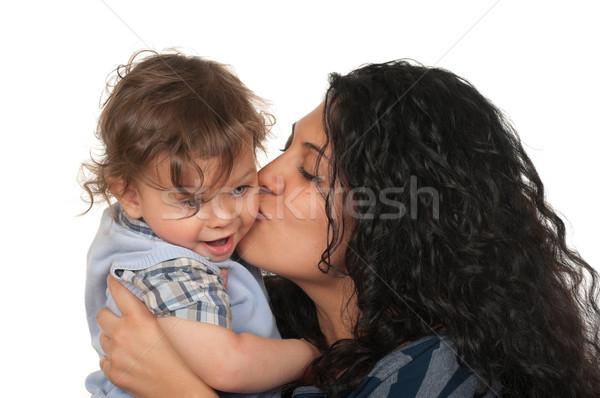 Anya fiú anyák szeretet csók fiú Stock fotó © BVDC