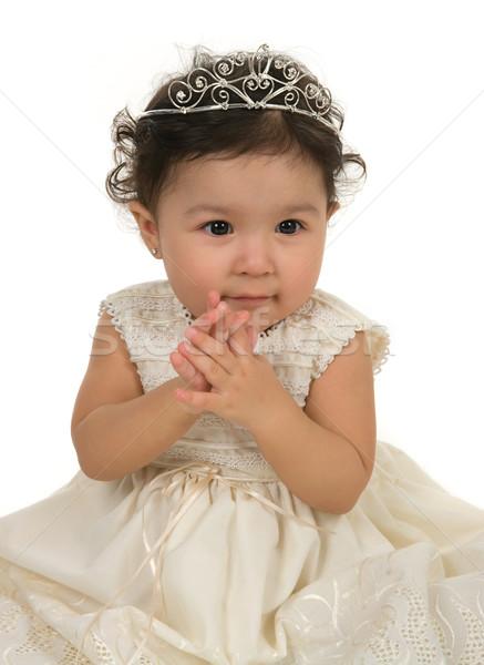 1 год ребенка счастливым ребенка платье Сток-фото © BVDC