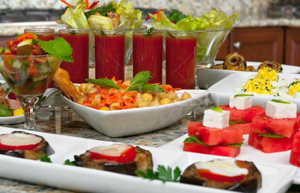 前菜 地中海料理 異なる パーティ 魚 卵 ストックフォト © BVDC