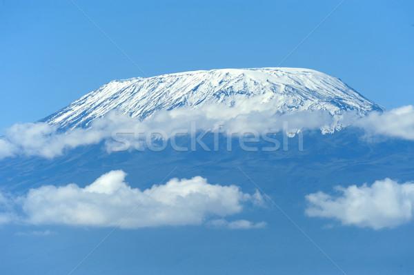 Snow on top of Mount Kilimanjaro Stock photo © byrdyak
