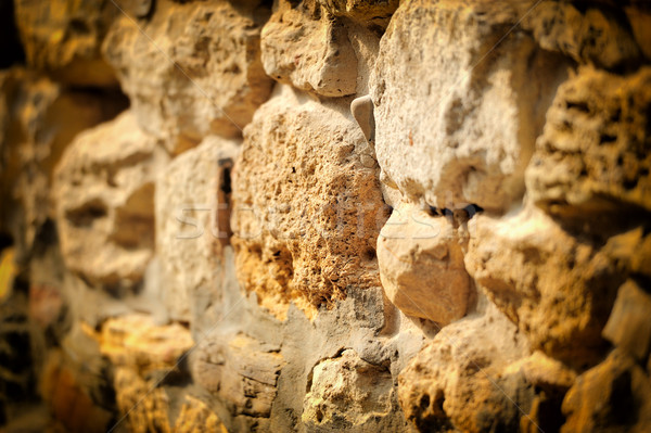 Background of stone wall texture Stock photo © byrdyak