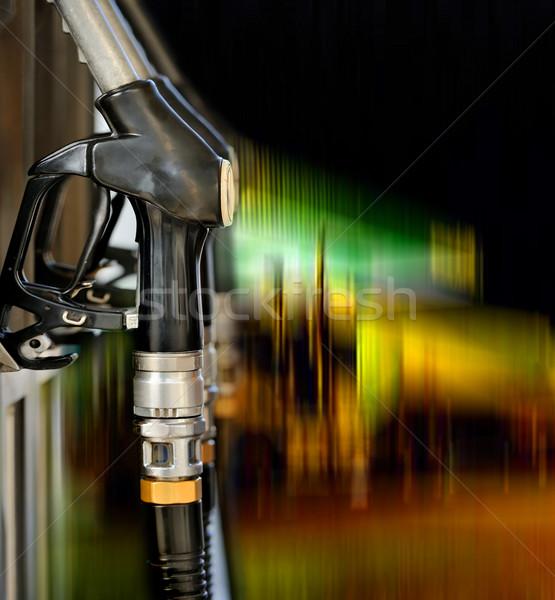 Pompować stacji benzynowej zielone energii moc transportu Zdjęcia stock © byrdyak
