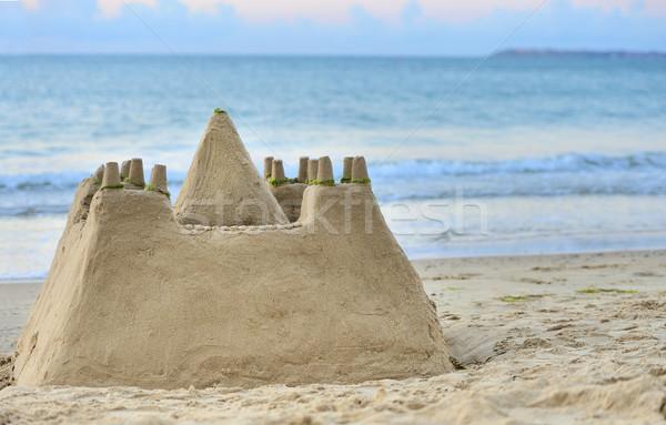 Sand Castle on Beach Stock photo © byrdyak