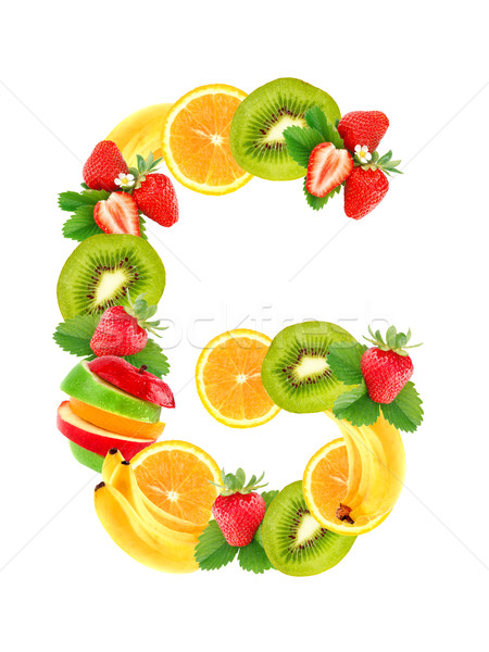 Brieven vruchten veel achtergrond groene groep Stockfoto © byrdyak