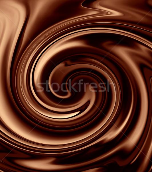ストックフォト: チョコレート · 食品 · 抽象的な · デザイン · キャンディ · 暗い