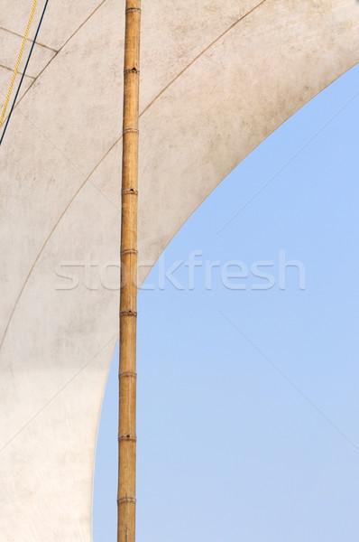 Zeil zeilen boot hemel water textuur Stockfoto © byrdyak