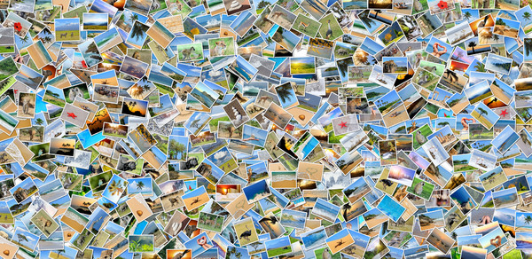 Collage of many photos Stock photo © byrdyak