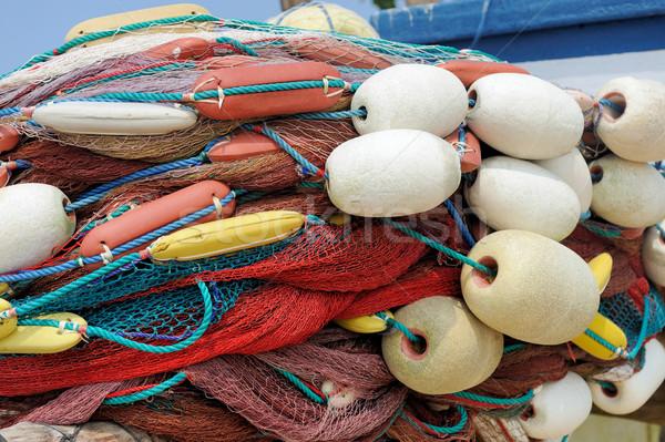 Pesca resumen mar fondo verano océano Foto stock © byrdyak